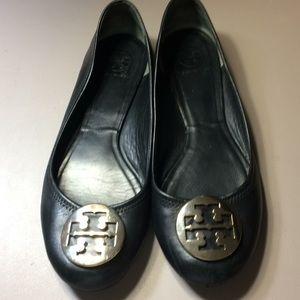 Tory Burch Classic Black Flats Size 11M